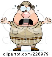 Royalty Free RF Clipart Illustration Of A Scared Safari Man
