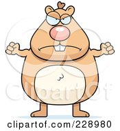 Royalty Free RF Clipart Illustration Of A Mad Hamster