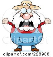 Royalty Free RF Clipart Illustration Of A Stressed Old Farmer