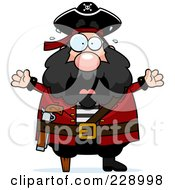 Royalty Free RF Clipart Illustration Of A Scared Pirate Man