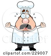 Royalty Free RF Clipart Illustration Of A Chubby Male Chef Panicking