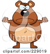 Royalty Free RF Clipart Illustration Of A Mad Bear