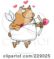 Royalty Free RF Clipart Illustration Of A Hamster Cupid by Cory Thoman