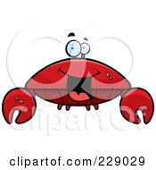 Royalty Free RF Clipart Illustration Of A Happy Crab
