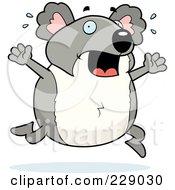 Royalty Free RF Clipart Illustration Of A Koala Running Scared