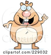 Royalty Free RF Clipart Illustration Of A Hamster With An Idea