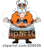 Royalty Free RF Clipart Illustration Of A Scared Viking Man