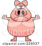 Royalty Free RF Clipart Illustration Of A Mad Pig