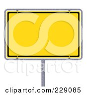 Royalty Free RF Clipart Illustration Of A 3d Blank Yellow German City Limits Sign