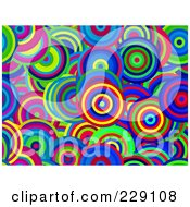 Royalty Free RF Clipart Illustration Of A Vibrant Circle Pattern Background