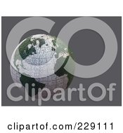 Royalty Free RF Clipart Illustration Of A 3d Dry Cracking Globe Over Gray by chrisroll