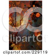 Royalty Free RF Clipart Illustration Of An Abstract Rusty Colored Background Of Veins And Orbs