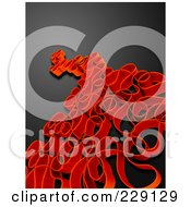 Royalty Free RF Clipart Illustration Of An Abstract Red Curve Pattern On Black