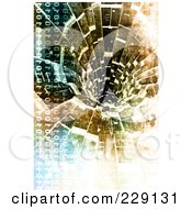 Royalty Free RF Clipart Illustration Of A Distressed Binary Code And Vortex Background by chrisroll