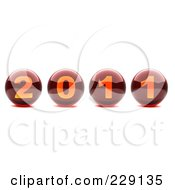 Royalty Free RF Clipart Illustration Of 3d New Year 2011 Balls