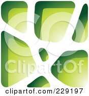 Royalty Free RF Clipart Illustration Of A Green Stone Like Paper Cut Out Logo Icon 4