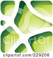 Royalty Free RF Clipart Illustration Of A Green Stone Like Paper Cut Out Logo Icon 5