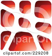 Royalty Free RF Clipart Illustration Of A Red Stone Like Paper Cut Out Logo Icon