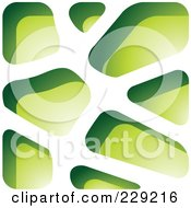 Royalty Free RF Clipart Illustration Of A Green Stone Like Paper Cut Out Logo Icon 3