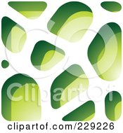 Royalty Free RF Clipart Illustration Of A Green Stone Like Paper Cut Out Logo Icon 8