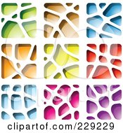 Royalty Free RF Clipart Illustration Of A Digital Collage Of Stone Like Paper Cut Out Logo Icons