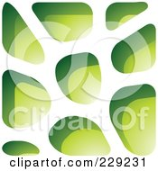 Royalty Free RF Clipart Illustration Of A Green Stone Like Paper Cut Out Logo Icon 9