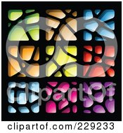 Digital Collage Of Colorful Stone Like Paper Cut Out Logo Icons
