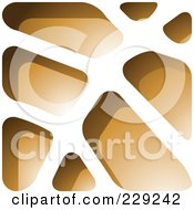Royalty Free RF Clipart Illustration Of A Brown Stone Like Paper Cut Out Logo Icon