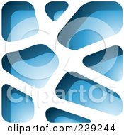 Royalty Free RF Clipart Illustration Of A Blue Stone Like Paper Cut Out Logo Icon 1