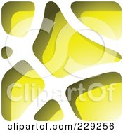 Royalty Free RF Clipart Illustration Of A Yellow Stone Like Paper Cut Out Logo Icon
