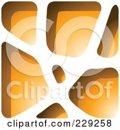Royalty Free RF Clipart Illustration Of An Orange Stone Like Paper Cut Out Logo Icon