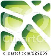 Royalty Free RF Clipart Illustration Of A Green Stone Like Paper Cut Out Logo Icon 2