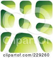 Royalty Free RF Clipart Illustration Of A Green Stone Like Paper Cut Out Logo Icon 6