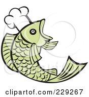 Retro Chef Fish Logo