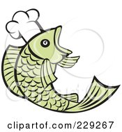 Royalty Free RF Clipart Illustration Of A Retro Chef Fish Logo