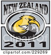 Royalty Free RF Clipart Illustration Of A New Zealand Rugby Kiwi Bird 3