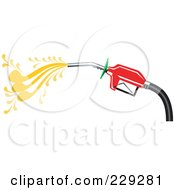 Royalty Free RF Clipart Illustration Of A Red Gas Nozzle