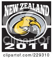 Royalty Free RF Clipart Illustration Of A New Zealand Rugby Kiwi Bird 2 by patrimonio
