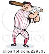 Baseball Man Swinging A Bat
