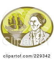 Royalty Free RF Clipart Illustration Of An Explorer And Ship Logo