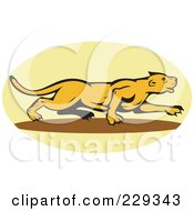 Royalty Free RF Clipart Illustration Of A Stalking Lioness Logo by patrimonio