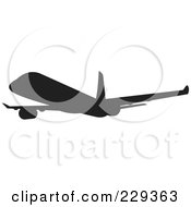 Silhouetted Airliner 1