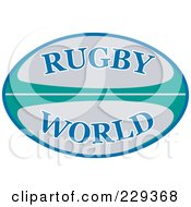 Royalty Free RF Clipart Illustration Of A Rugby 2011 Icon 4