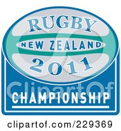 Royalty Free RF Clipart Illustration Of A Rugby 2011 Icon 2