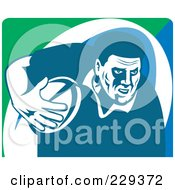 Royalty Free RF Clipart Illustration Of A Rugby Player 2