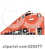 Royalty Free RF Clipart Illustration Of A Retro Red Train