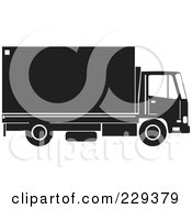 Royalty Free RF Clipart Illustration Of A Delivery Truck Logo 3