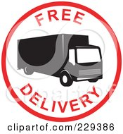 Royalty Free RF Clipart Illustration Of A Free Delivery Logo 1