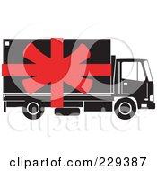 Royalty Free RF Clipart Illustration Of A Delivery Truck Logo 2