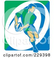 Royalty Free RF Clipart Illustration Of A Rugby Player 1